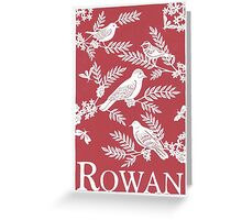 Burgundy Rowan Paper Cutting Greeting Card