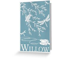 Blue Willow Paper Cutting Greeting Card