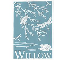 Blue Willow Paper Cutting Photographic Print