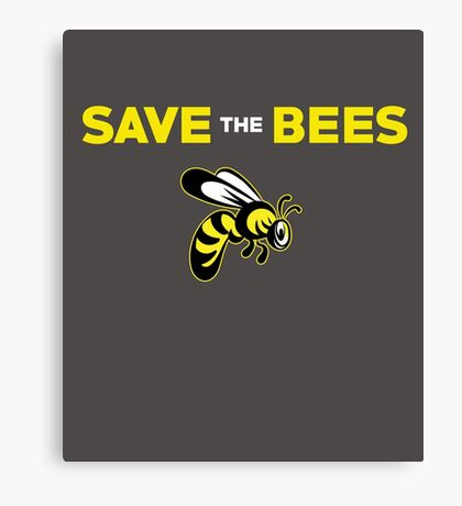 Save The Bees Cute Insect  Canvas Print