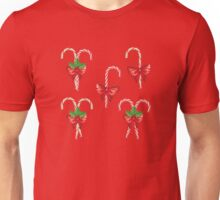 Candy Canes with Bow 2 Unisex T-Shirt