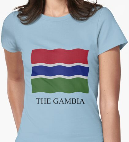 Gambian flag Womens Fitted T-Shirt