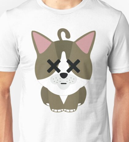 American Short Hair Cat Emoji Faint and Knock Out Face Unisex T-Shirt