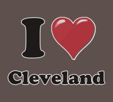 I Love Cleveland Kids Clothes