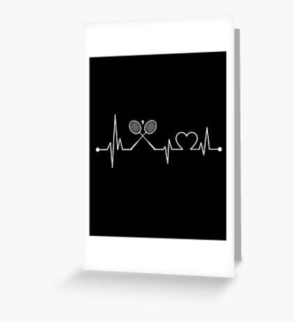 Heartbeat Sport Badminton Greeting Card