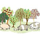 Permaculture Pigs by Diana-Lee Saville