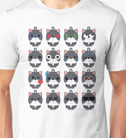 Exotic Cat Emoji Different Face Emotion Unisex T-Shirt