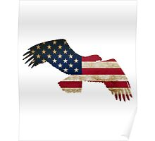 Eagle's American Flag Poster