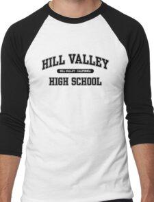 Hill Valley High School (Black) Men's Baseball ¾ T-Shirt