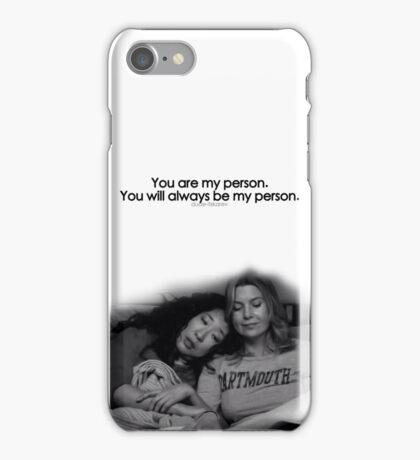 Greys Anatomy Person iPhone Case/Skin
