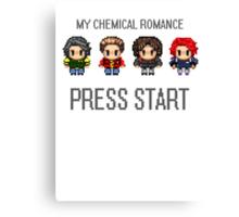 MCR - PRESS START Canvas Print