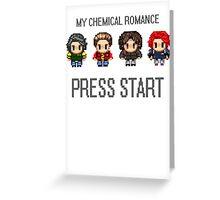 MCR - PRESS START Greeting Card