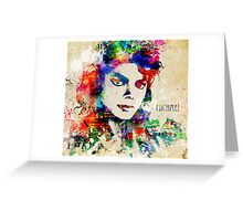 Michael Jackson The Man in the Mirror Greeting Card