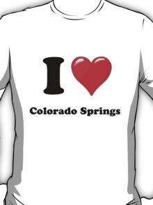 I Love Colorado Springs T-Shirt