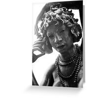 Statue 10 Greeting Card