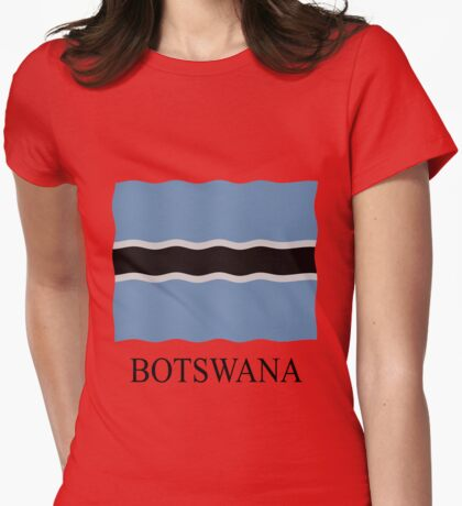 Botswana flag Womens Fitted T-Shirt