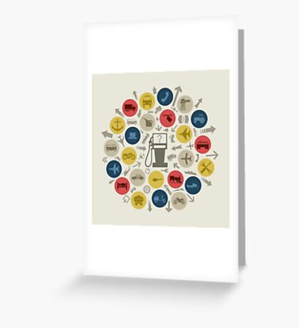 Abstraction transport Greeting Card