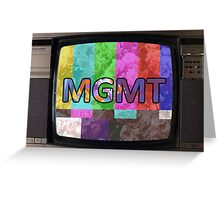 MGMT on TV Greeting Card