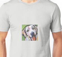 Yellow Labrador Retriever Dog Bright colorful pop dog art Unisex T-Shirt