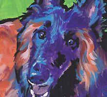 BelgianTervuren Dog Bright colorful pop dog art by bentnotbroken11
