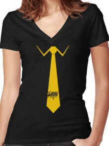 Lupin Central - Necktie Women's Fitted V-Neck T-Shirt