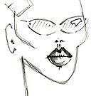 GRACE JONES WITH TEXT by Shawn  Quinlan