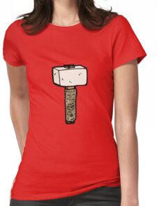 cartoon stone mallet Womens Fitted T-Shirt