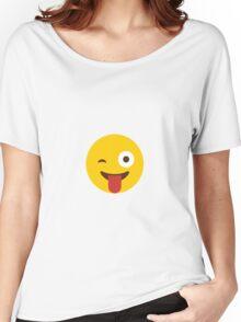 Tongue Poke Emoji Women's Relaxed Fit T-Shirt