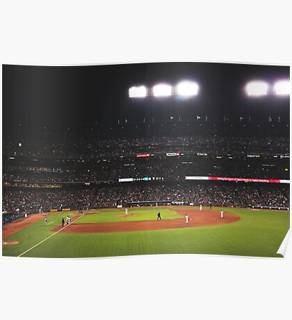 AT&T Park At Night Poster