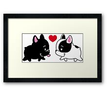 Frenchies in Love Framed Print