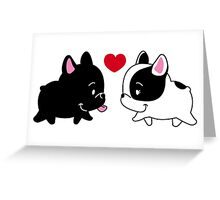 Frenchies in Love Greeting Card