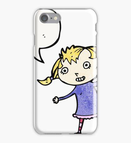 cartoon little blond girl iPhone Case/Skin