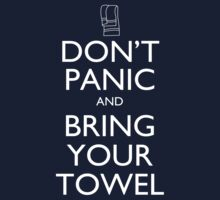 Don't panic and bring your towel One Piece - Short Sleeve