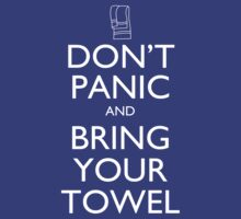 Don't panic and bring your towel by Rosemary  Scott - Redrockit