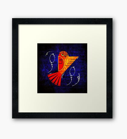 Abstract Bird Framed Print