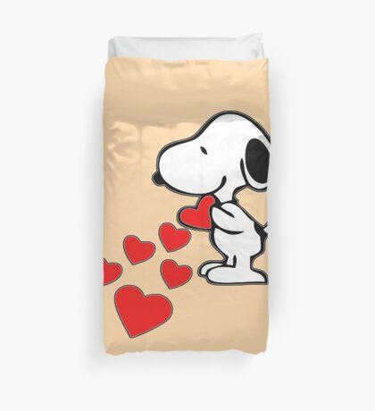 Snoopy amor Duvet Cover