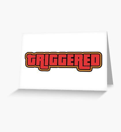 TRIGGERED (GTA - WASTED) Greeting Card