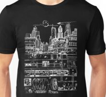 City Limits (White) Unisex T-Shirt