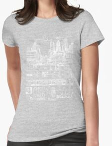 City Limits (White) Womens Fitted T-Shirt
