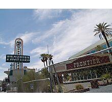 Frontier Las Vegas awaiting demolition. Photographic Print
