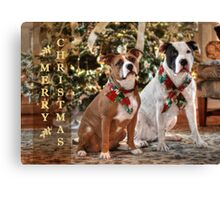 A Bubba and Kensie Christmas Canvas Print