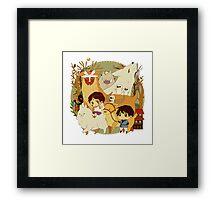Party Mononoke Framed Print