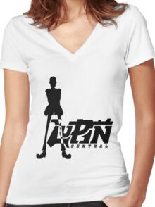 Thief Simple Women's Fitted V-Neck T-Shirt