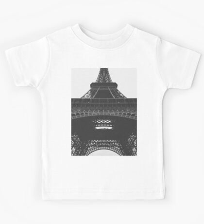 Eiffel Tower Black & White Kids Tee
