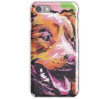 Nova Scotia Duck Tolling Retriever Dog Bright colorful pop dog art iPhone Case/Skin