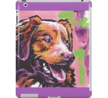 Nova Scotia Duck Tolling Retriever Dog Bright colorful pop dog art iPad Case/Skin