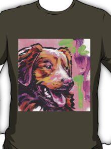 Nova Scotia Duck Tolling Retriever Dog Bright colorful pop dog art T-Shirt