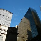 MetLife Building and Reflection, Chrysler Building, New York City by lenspiro