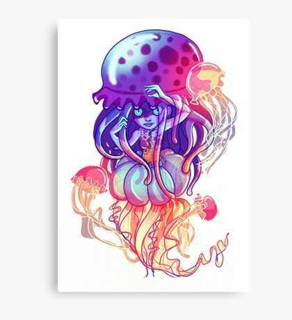 Jelly Space (White Variation) Canvas Print