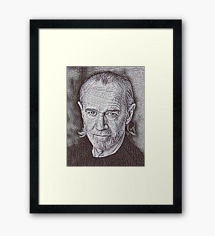 George Carlin Drawing Framed Print
